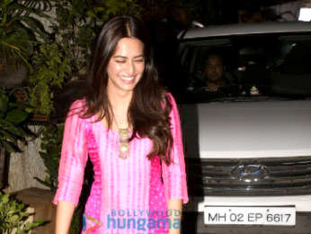 Kriti Kharbanda snapped post dubbing for Yamla Pagla Deewana Phir Se