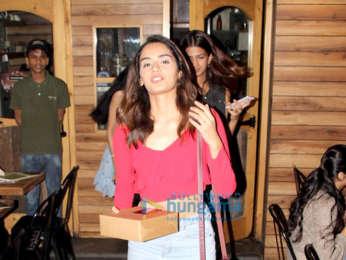 Manushi Chhillar snapped at Farmer's Cafe