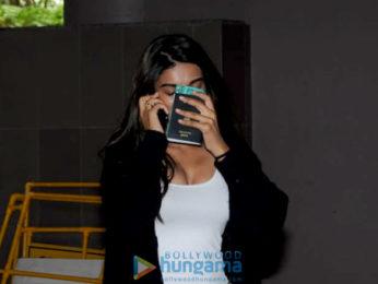 Nidhhi Agerwal and Akshay Kumar snapped at the airport
