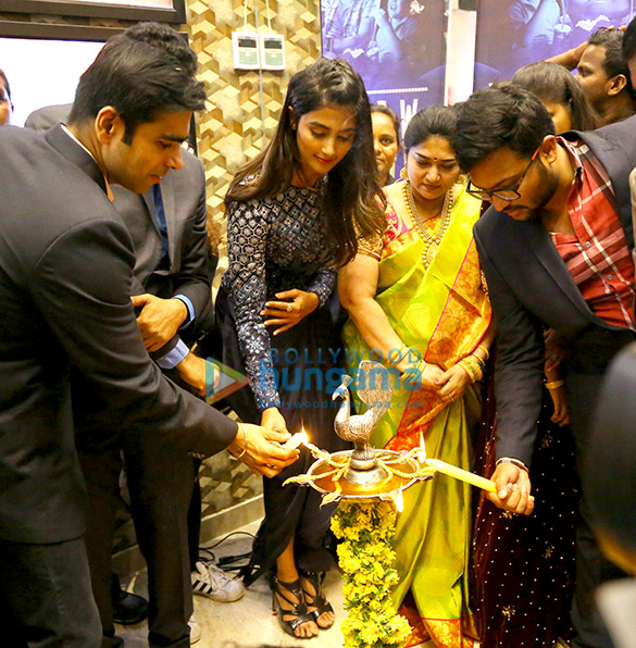 Pooja Hegde inaugurates Carnival Cinemas' 3-screen multiplex at Ravi Priya Mall in Ongole, Andhra Pradesh