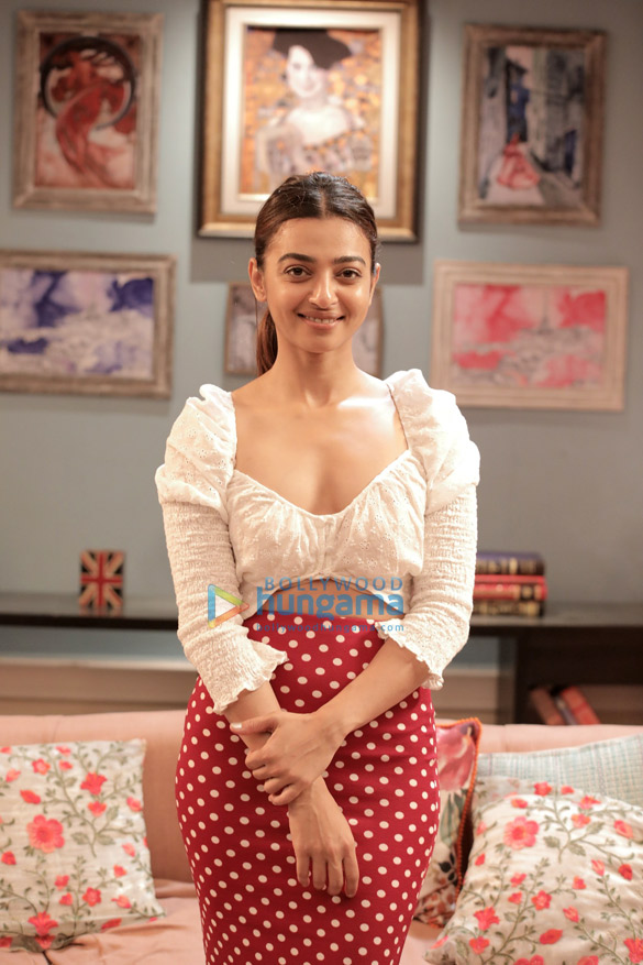 Radhika Apte snapped on the sets of Midnight Misadventures with Mallika Dua