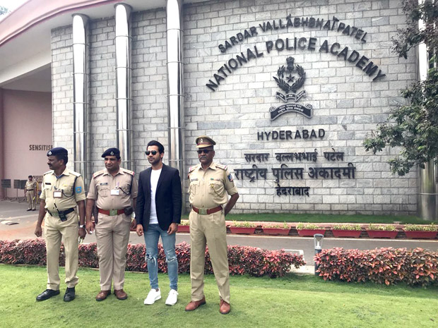 Rajkummar Rao meets the officers at the National Police Academy