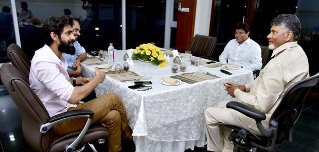 Rana Daggubati meets Chief Minister Chandrababu Naidu for his next