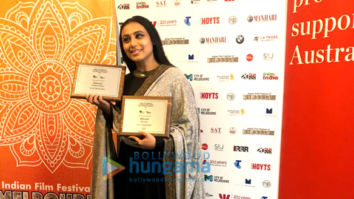 Rani Mukerji, Rajkumar Hirani and Richa Chadda receive awards at Indian Film Festival of Melbourne Awards 2018