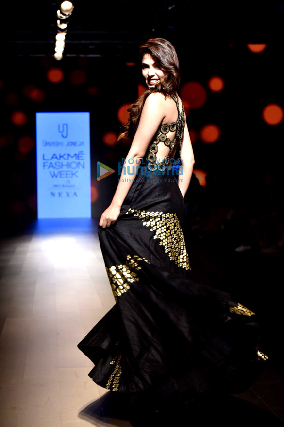 Rhea-Chakraborty-walks-for-Urvashi-Juneja-at-Lakme-Fashion-Week-3