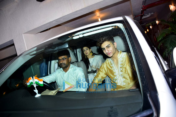 Sara Ali Khan and Ibrahim Ali Khan snapped at Saif Ali Khan's house for Rakshabandhan