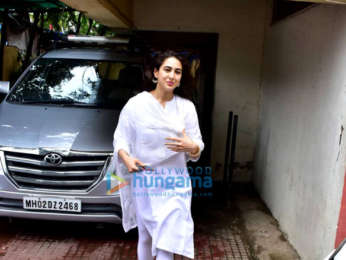 Sara Ali Khan snapped at the gym in Bandra