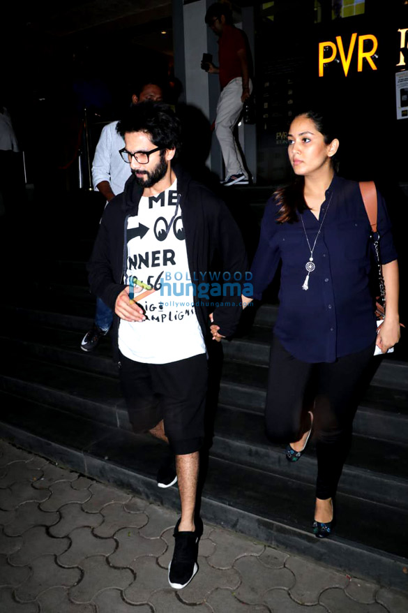 Shahid Kapoor and Mira Rajput spotted after watching Gold at PVR Icon in Andheri