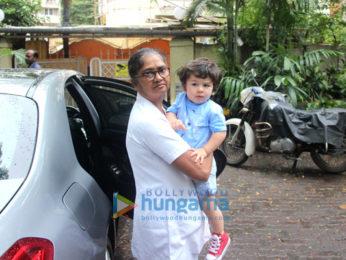 Soha Ali Khan visits Taimur Ali Khan's playschool with Inaaya Naumi