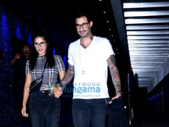 Sunny Leone and Daniel Weber spotted at Hakkasan in Bandra