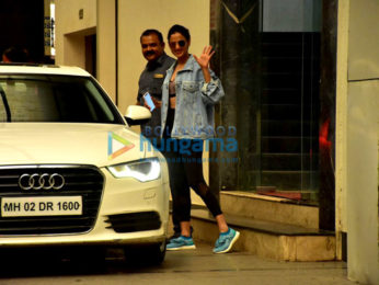 Varun Dhawan and Sonal Chauhan snapped outside the gym in Bandra