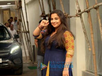 Vidya Balan snapped at Sunny Super Sound in Juhu