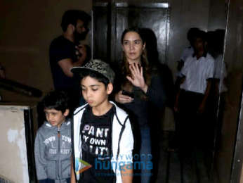 Zayed Khan spotted with his family at PVR Juhu