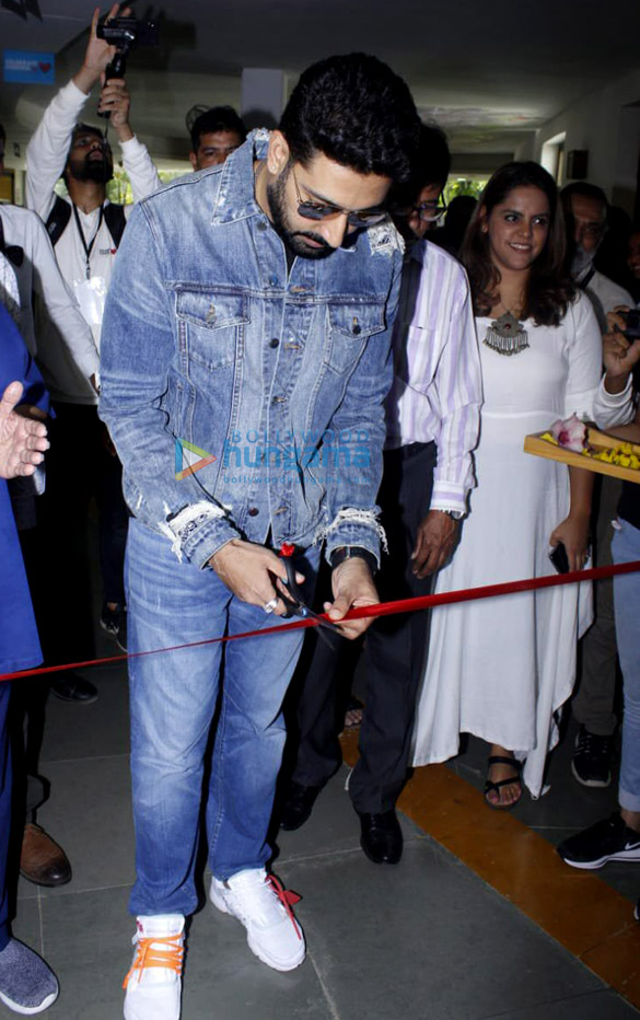 Abhishek Bachchan and Konkana Sen grace the inauguration of the Whistling Woods International '75 Frames' rare portrait collection of Amitabh Bachchan