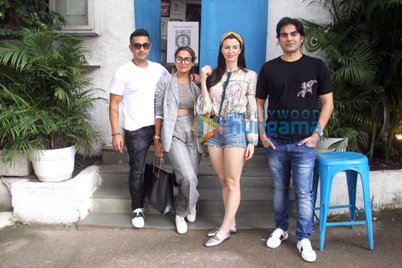 Arbaaz Khan and Amrita Arora snapped at Olive in Bandra (1)