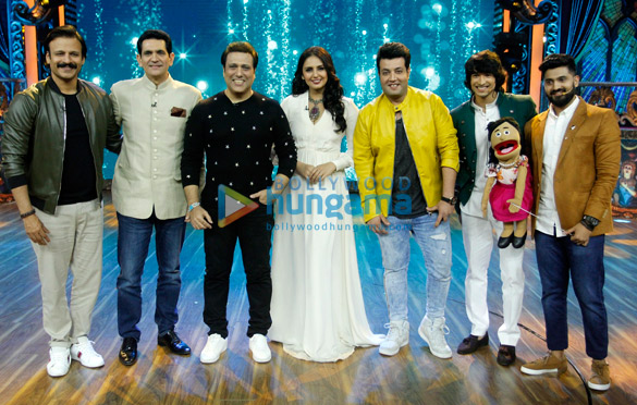 Govinda and Varun Sharma snapped promoting 'Fry Day' on the sets of India's Best Dramebaaz