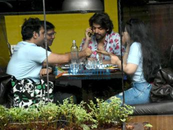 Gurmeet Choudhary snapped at Silver Beach Cafe in Juhu