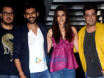 Kartik Aaryan, Dinesh Vijan, Kriti Sanon & Varun Sharma spotted at Hakkasan
