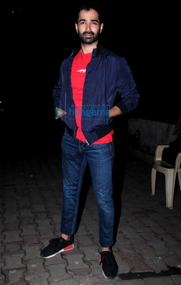 Rhea Chakraborty and Varun Mitra spotted at Vishesh films office