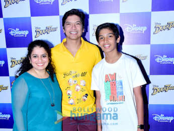 Shaan and his son lauch the hindi version of the iconic Ducktales title track