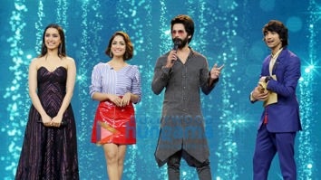 Shahid Kapoor, Shraddha Kapoor and Yami Gautam snapped promoting 'Batti Gul Meter Chalu' on sets of India's Best Dramebaaz
