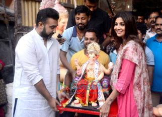 Shilpa Shetty, Raj Kundra and Remo D'souza bring Ganpati at their residence