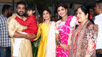 Shilpa Shetty and family spotted during Ganesh visarjan