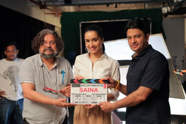 Shraddha Kapoor kick starts Amol Gupte's Saina Nehwal biopic with Bhushan Kumar as producer