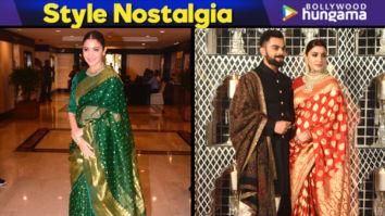 Style Nostalgia - Anushka Sharma in a Benarasi saree for the Priyadarshini Global Awards