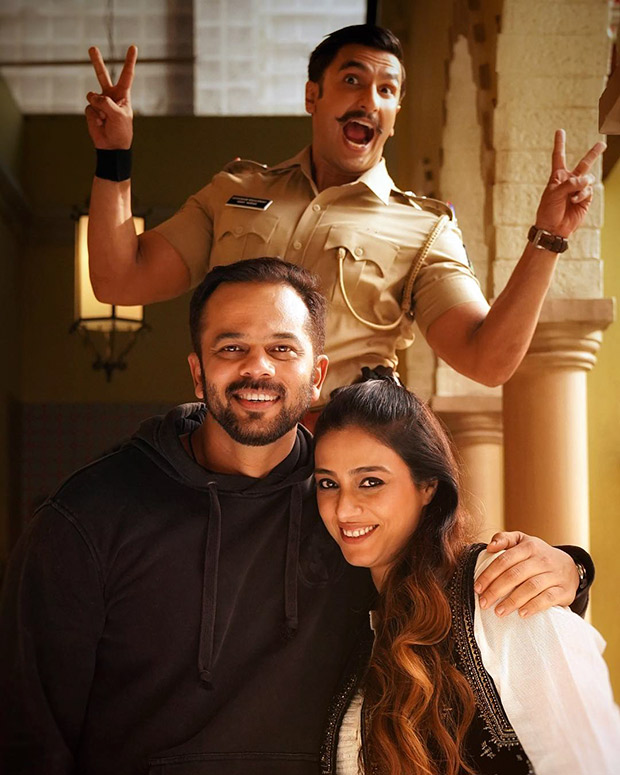 Tabu surprises Rohit Shetty on Simmba set and Ranveer Singh cant stop jumping with joy