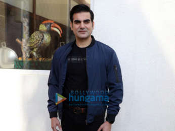 Arbaaz Khan snapped during 'Jack And Dil' interviews at Sun N Sand in Juhu