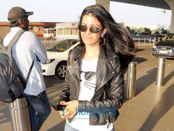 Evelyn Sharma, Aditi Rao Hydari and Rohan Mehra snapped at the airport