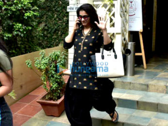 Kajol and her daughter snapped post lunch date in Bandra
