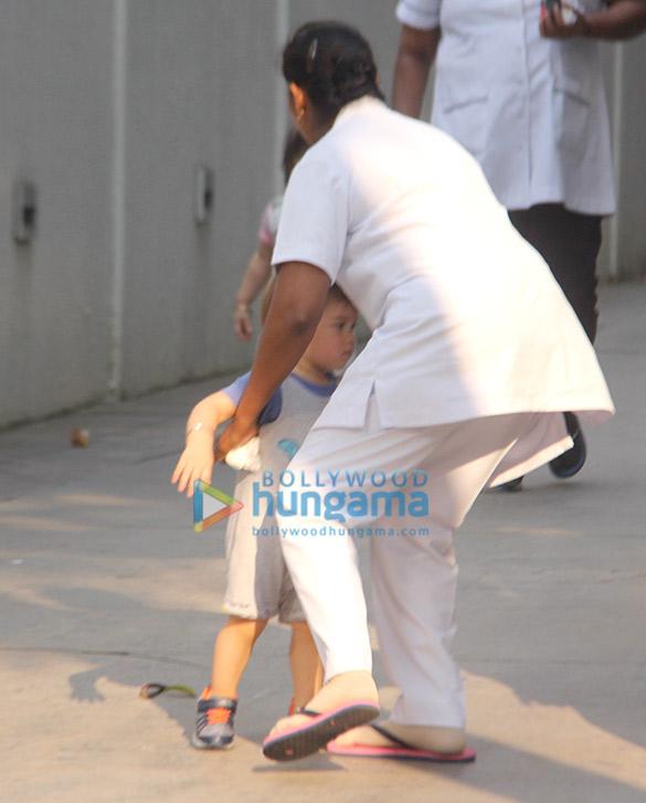 Karan Johar's twins Ruhi and Yash Johar spotted in Khar