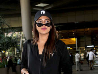 Sonakshi Sinha and Amit Sadh snapped at the airport