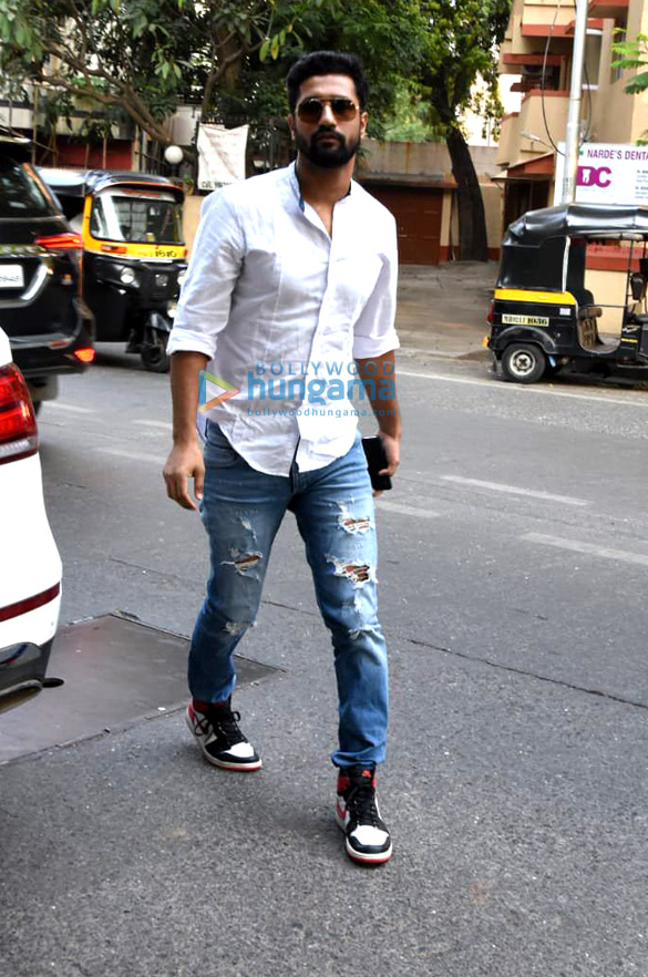 Vicky Kaushal and Aayush Sharma spotted at The Fable Cafe in Juhu