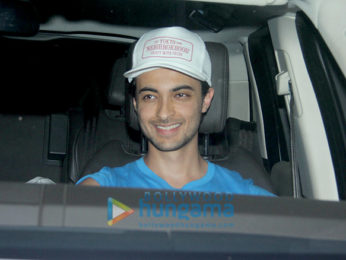Aayush Sharma and Varun Dhawan snapped at the gym in Juhu