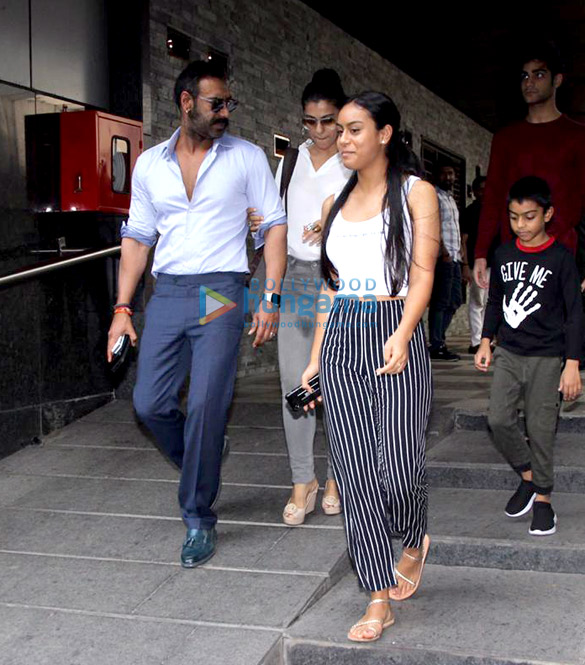 Ajay Devgn and family snapped at Hakkasan in Bandra (4)