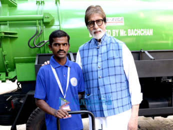 Amitabh Bachchan buys and presents machines for manual scavengers