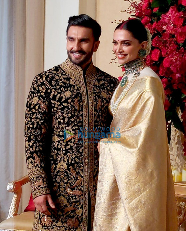 Deepika Padukone - Ranveer Singh Reception: Newlyweds look ...