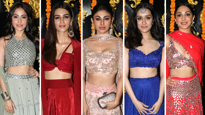 GRAND Diwali Celebration at Ekta Kapoor House with many Celebs | Kriti  Sanon | Mouni roy