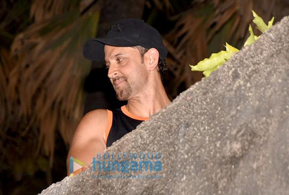 Hrithik Roshan snapped at his residence