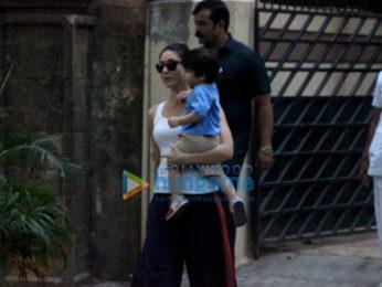 Kareena Kapoor Khan, Saif Ali Khan and Taimur Ali Khan spotted in Bandra