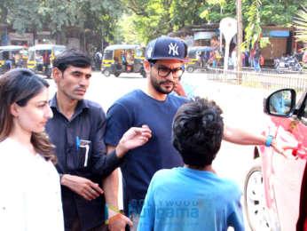 Kunal Khemu and Soha Ali Khan spotted at Bastain