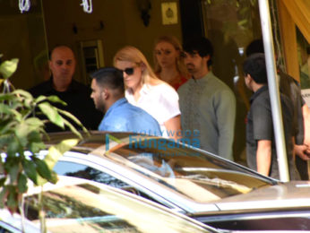 Priyanka Chopra, Nick Jonas snapped with Joe Jonas, Sophie Turner and others after Puja ceremony