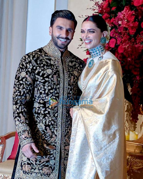 Ranveer Singh and Deepika Padukone arrive at their Bengaluru wedding reception 2