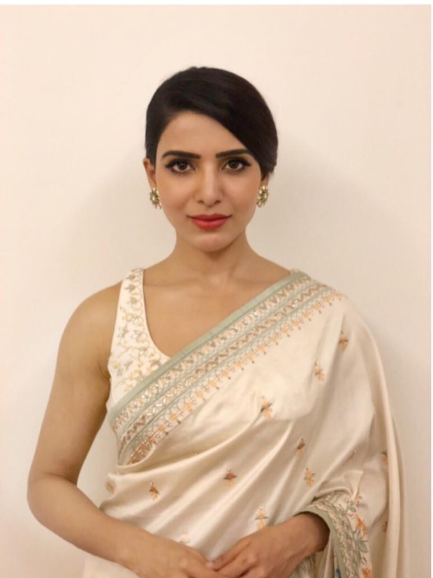 Samantha Ruth Prabhu in Anita Dongre for an event (1)