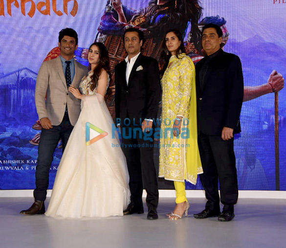 Sara Ali Khan, Sushant Singh Rajput and others snapped at the trailer launch of 'Kedarnath'