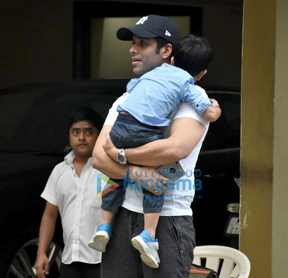 Taimur Ali Khan and Tusshar Kapoor's son Laksshya spotted in Bandra (6)