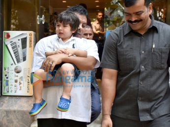 Taimur Ali Khan snapped at a music instrument shop in Bandra